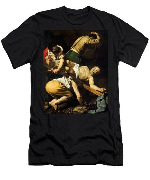 Crucifixion Of Saint Peter Men's T-Shirt (Athletic Fit)