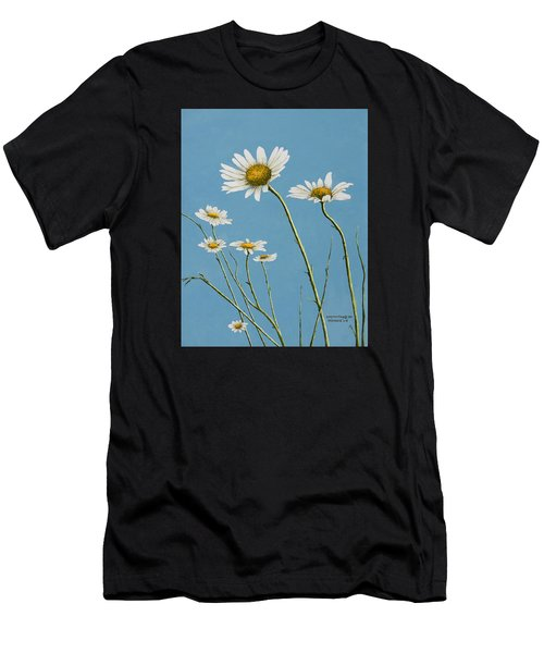 Daisies In The Wind Men's T-Shirt (Athletic Fit)