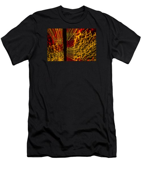 Dancing Lights 5  Men's T-Shirt (Slim Fit) by Penny Lisowski