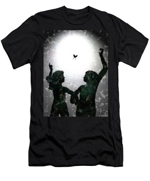 Men's T-Shirt (Slim Fit) featuring the digital art Dancing Silhouettes by Holly Ethan