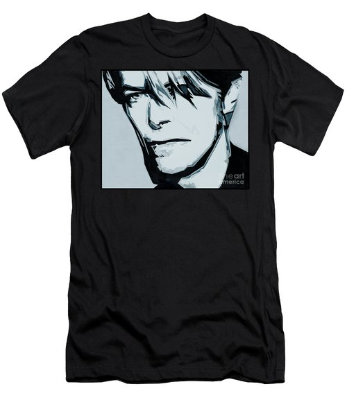 Born Under A Stone Born With A Single Voice. Bowie Men's T-Shirt (Athletic Fit)