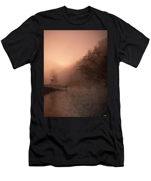 Dawn On The Lower Mountain Fork River Men's T-Shirt (Athletic Fit)