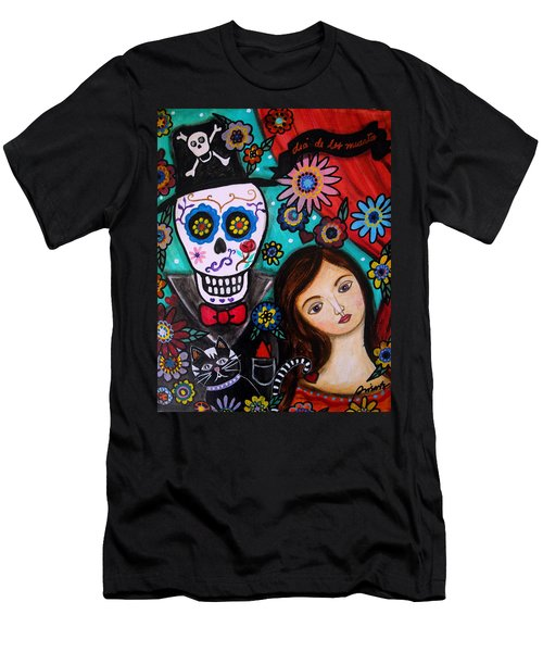 Day Of The Dead Men's T-Shirt (Slim Fit) by Pristine Cartera Turkus