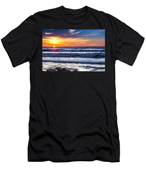 Sunset - Del Mar, California View 1 Men's T-Shirt (Athletic Fit)