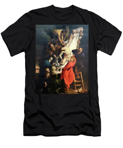 Descent From The Cross Men's T-Shirt (Athletic Fit)