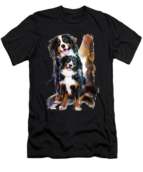 Dog Family Men's T-Shirt (Athletic Fit)