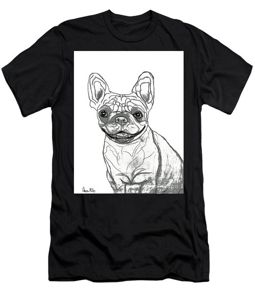 Dog Sketch In Charcoal 7 Men's T-Shirt (Athletic Fit)