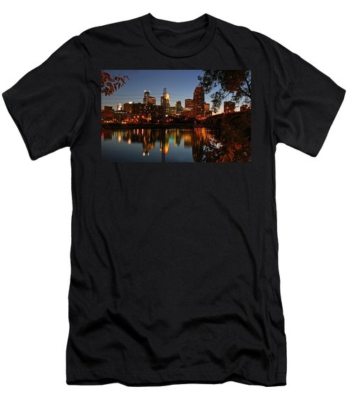 Downtown Minneapolis At Night Men's T-Shirt (Athletic Fit)