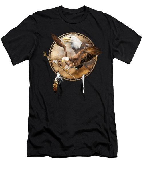 Dream Catcher - Spirit Eagle 2 Men's T-Shirt (Athletic Fit)