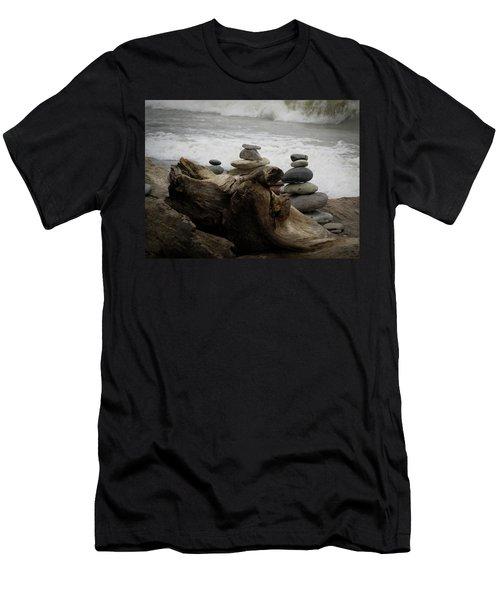 Driftwood Cairns Men's T-Shirt (Athletic Fit)