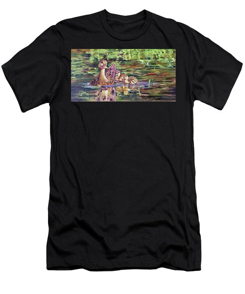 Duck Family Men's T-Shirt (Athletic Fit)