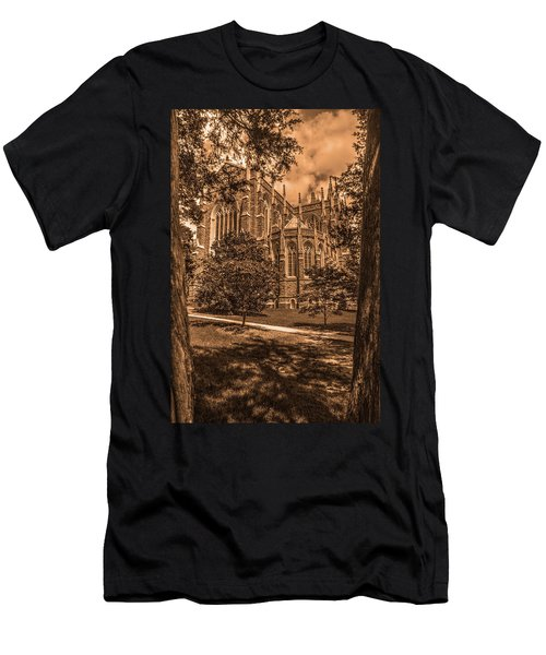 Duke Chapel Sepia Men's T-Shirt (Athletic Fit)
