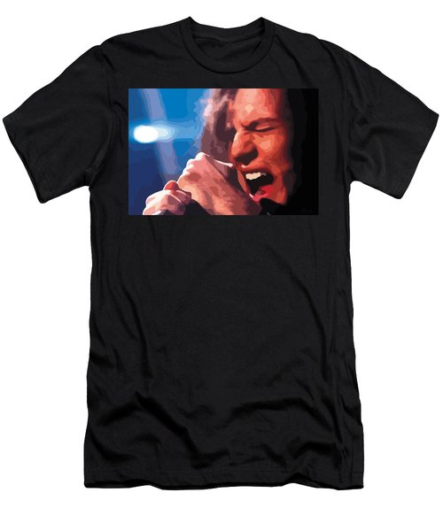 Eddie Vedder Men's T-Shirt (Slim Fit) by Gordon Dean II