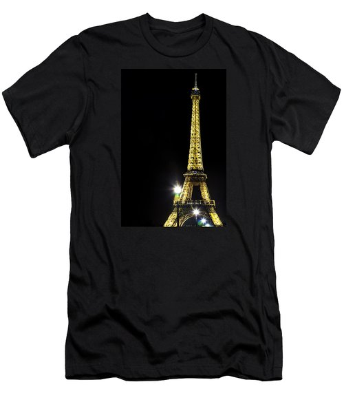 Men's T-Shirt (Slim Fit) featuring the photograph Eiffel At Night by Andrew Soundarajan