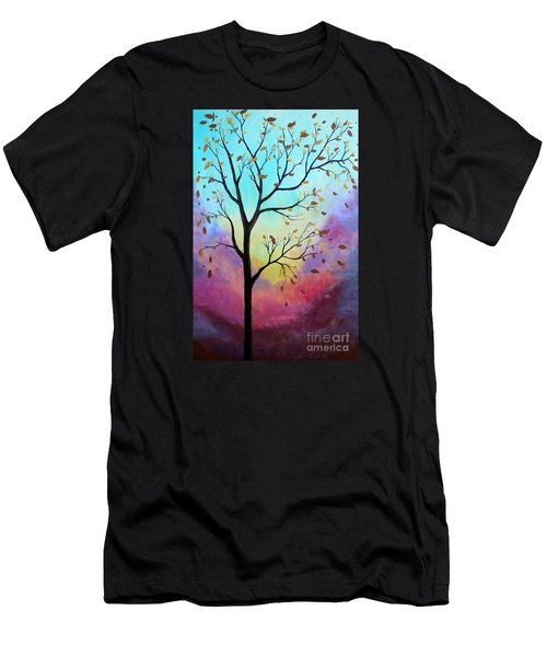 Men's T-Shirt (Slim Fit) featuring the painting Enchanted Aura by Stacey Zimmerman