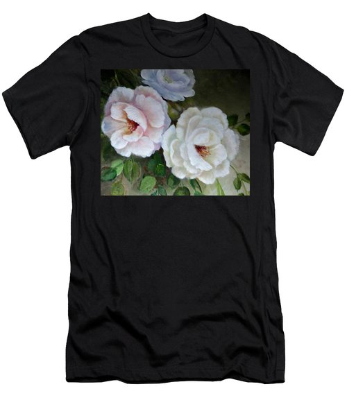 Men's T-Shirt (Slim Fit) featuring the painting Etre Fleur  by Patricia Schneider Mitchell