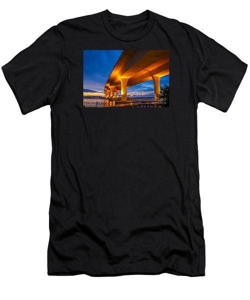 Evening On The Boardwalk Men's T-Shirt (Slim Fit) by Tom Claud