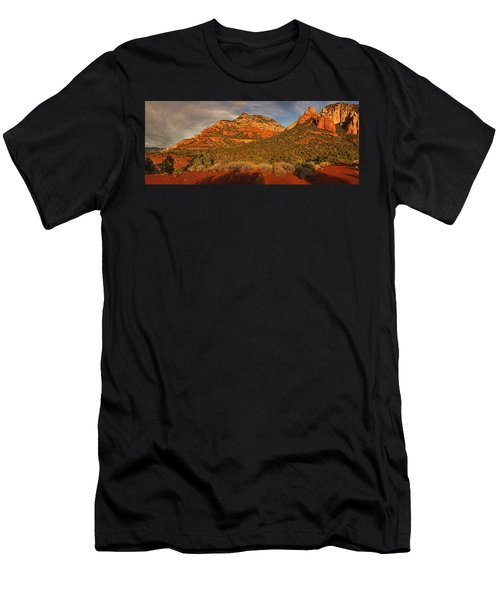 Evening Shadows Pano Txt Men's T-Shirt (Athletic Fit)
