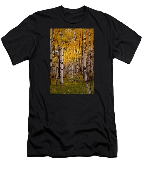Men's T-Shirt (Slim Fit) featuring the photograph Fall At Snowbowl by Tom Kelly