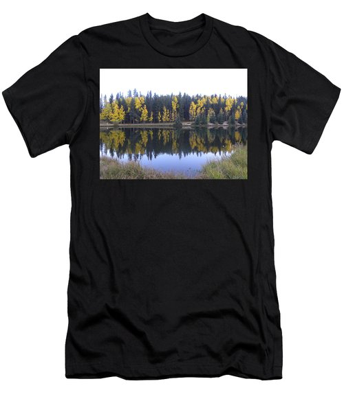 Potty Pond Reflection - Fall Colors Divide Co Men's T-Shirt (Athletic Fit)