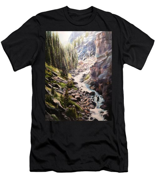 Falls Below Rimrock Lake Men's T-Shirt (Athletic Fit)