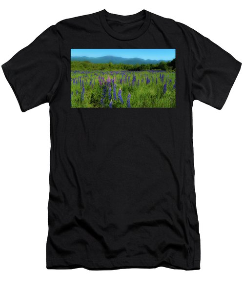 Men's T-Shirt (Athletic Fit) featuring the photograph Field Of Lupines by Brenda Jacobs