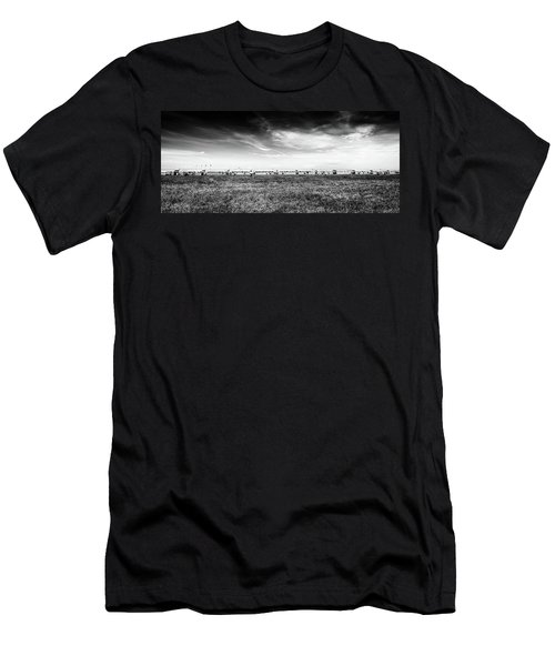 Men's T-Shirt (Athletic Fit) featuring the photograph Fields Of The Elysium Locomotive by John Williams