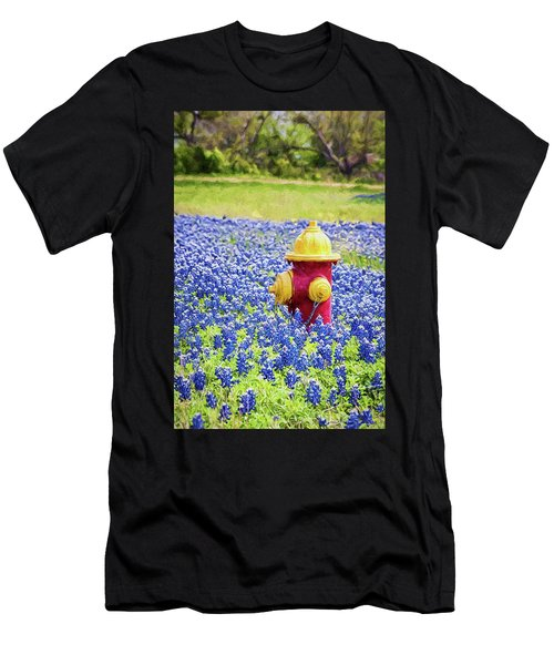 Fire Hydrant In The Bluebonnets Men's T-Shirt (Athletic Fit)