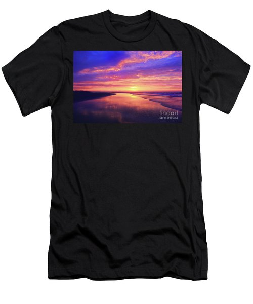 First Light At The Beach Men's T-Shirt (Athletic Fit)