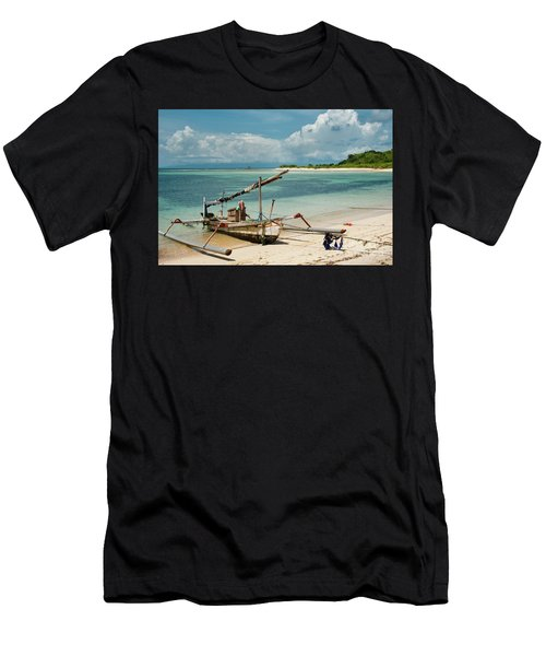 Fishing Boat Men's T-Shirt (Athletic Fit)