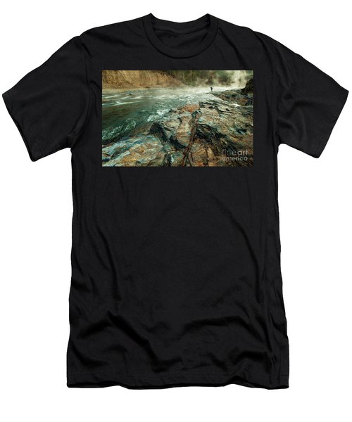 Men's T-Shirt (Slim Fit) featuring the photograph Fishing Day by Iris Greenwell