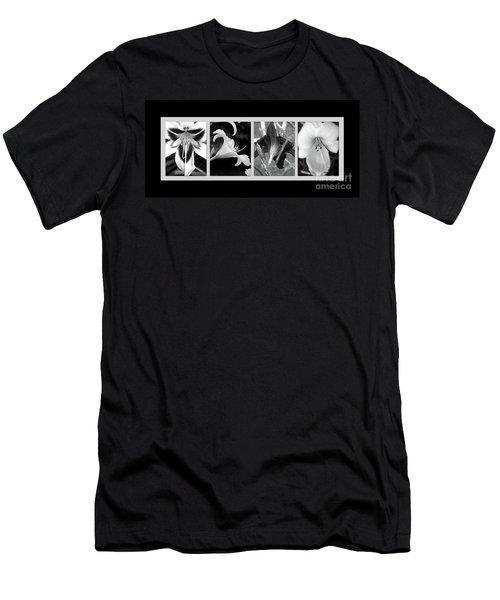 Floral Collage Men's T-Shirt (Slim Fit) by Sue Stefanowicz