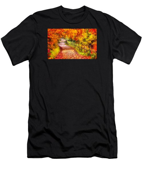 Fall Foliage Path 2 Men's T-Shirt (Athletic Fit)