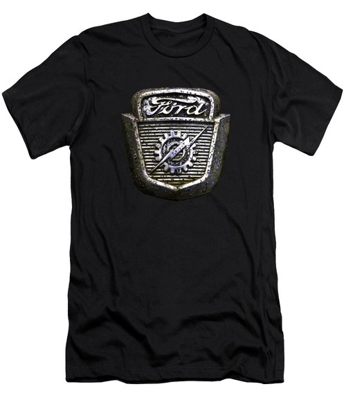 Men's T-Shirt (Athletic Fit) featuring the photograph Ford Emblem by Debra and Dave Vanderlaan