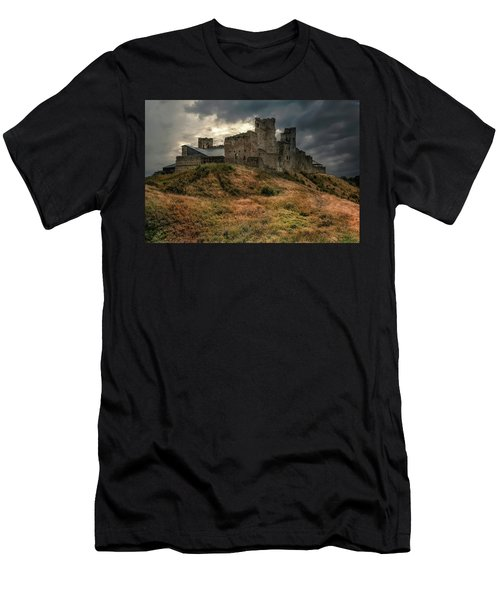 Men's T-Shirt (Athletic Fit) featuring the photograph Forgotten Castle by Jaroslaw Blaminsky
