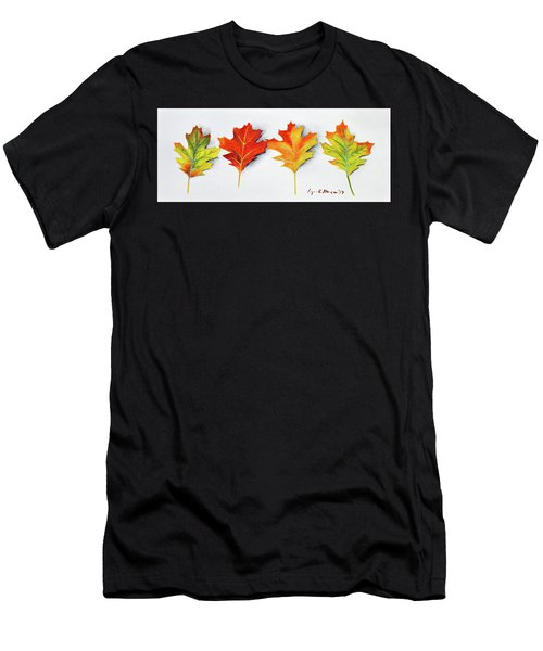 Four Autumn Leaves Men's T-Shirt (Athletic Fit)