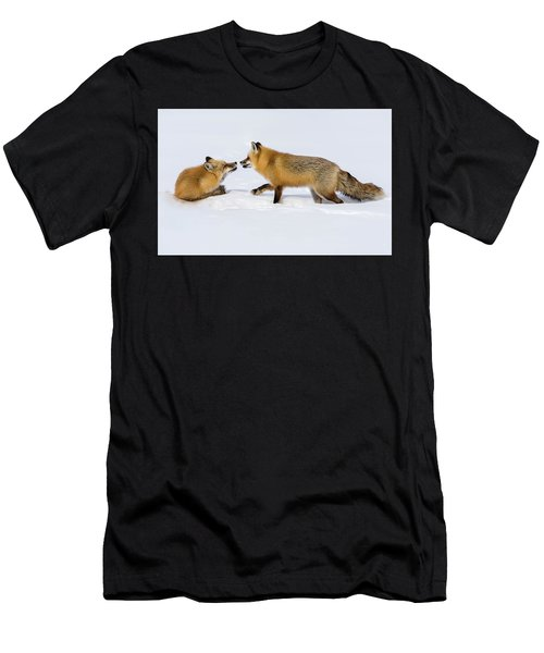 Men's T-Shirt (Athletic Fit) featuring the photograph Fox Love by Brenda Jacobs