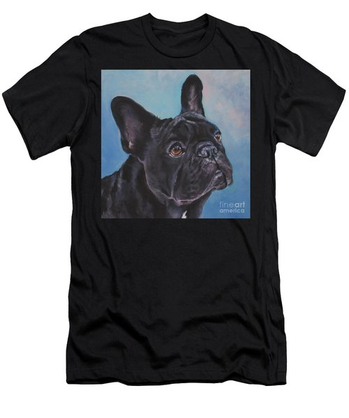 Men's T-Shirt (Slim Fit) featuring the painting French Bulldog by Lee Ann Shepard