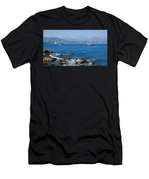 Men's T-Shirt (Athletic Fit) featuring the photograph French Riviera by August Timmermans