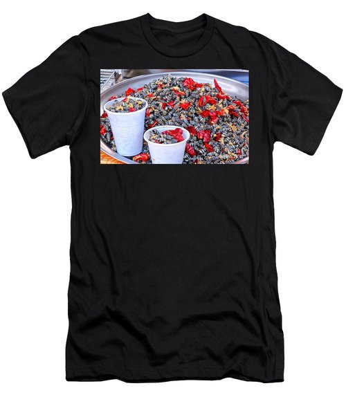 Men's T-Shirt (Athletic Fit) featuring the photograph Fried Sea Snails With Chili by Yali Shi