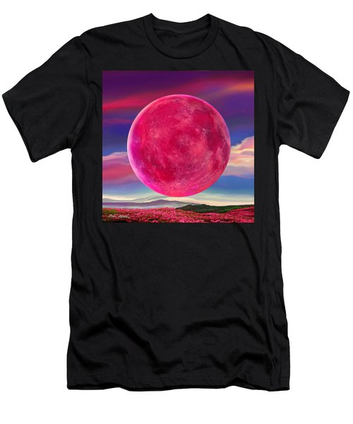 Full Pink Moon Men's T-Shirt (Athletic Fit)