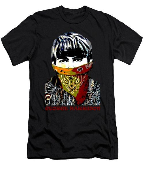 George Harrison Men's T-Shirt (Slim Fit) by RicardMN Photography