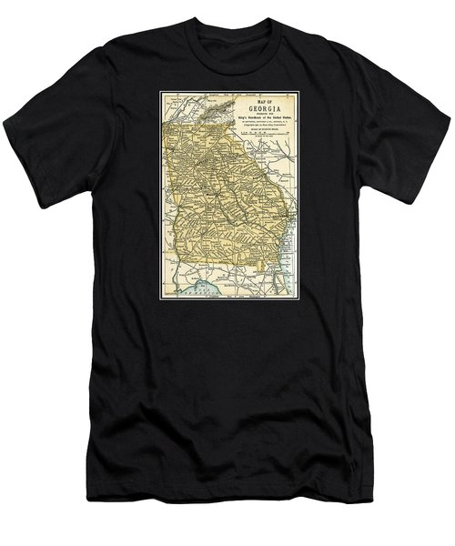 Georgia Antique Map 1891 Men's T-Shirt (Athletic Fit)