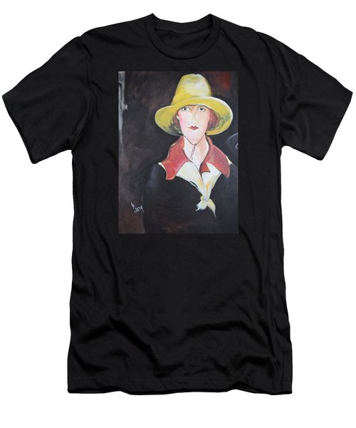 Girl In Riding Hat Men's T-Shirt (Slim Fit) by Gary Smith