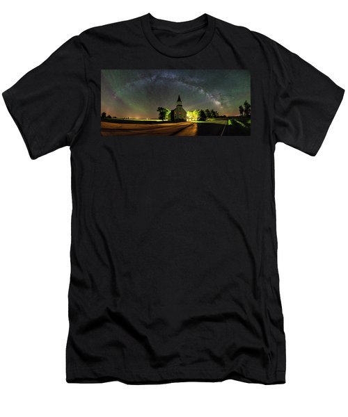 Men's T-Shirt (Athletic Fit) featuring the photograph Glorious Night by Aaron J Groen