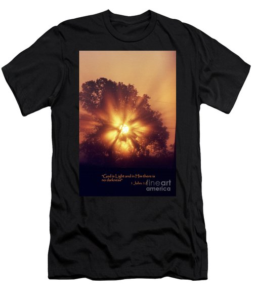 God Is Light Men's T-Shirt (Athletic Fit)