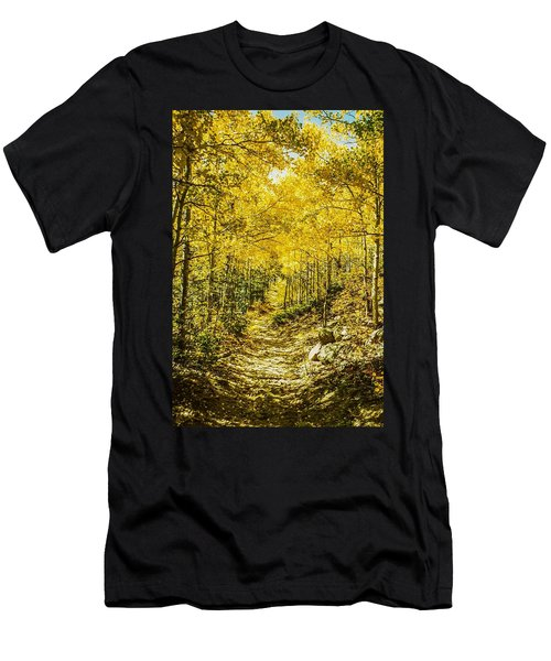 Golden Aspens In Colorado Mountains Men's T-Shirt (Athletic Fit)