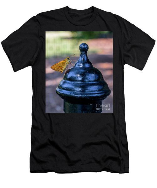 Men's T-Shirt (Athletic Fit) featuring the photograph Golden Moth by Ray Shiu