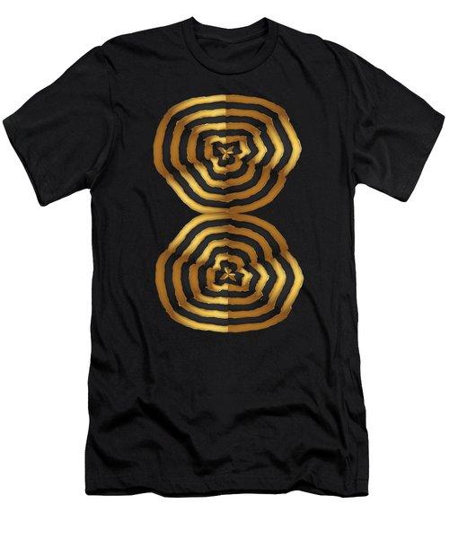 Golden Waves Hightide Natures Abstract Colorful Signature Navinjoshi Fineartartamerica Pixels Men's T-Shirt (Slim Fit) by Navin Joshi