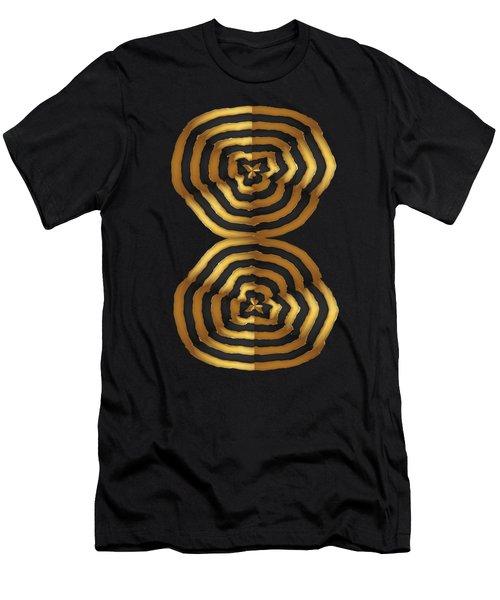 Golden Waves Hightide Natures Abstract Colorful Signature Navinjoshi Fineartartamerica Pixels Men's T-Shirt (Athletic Fit)